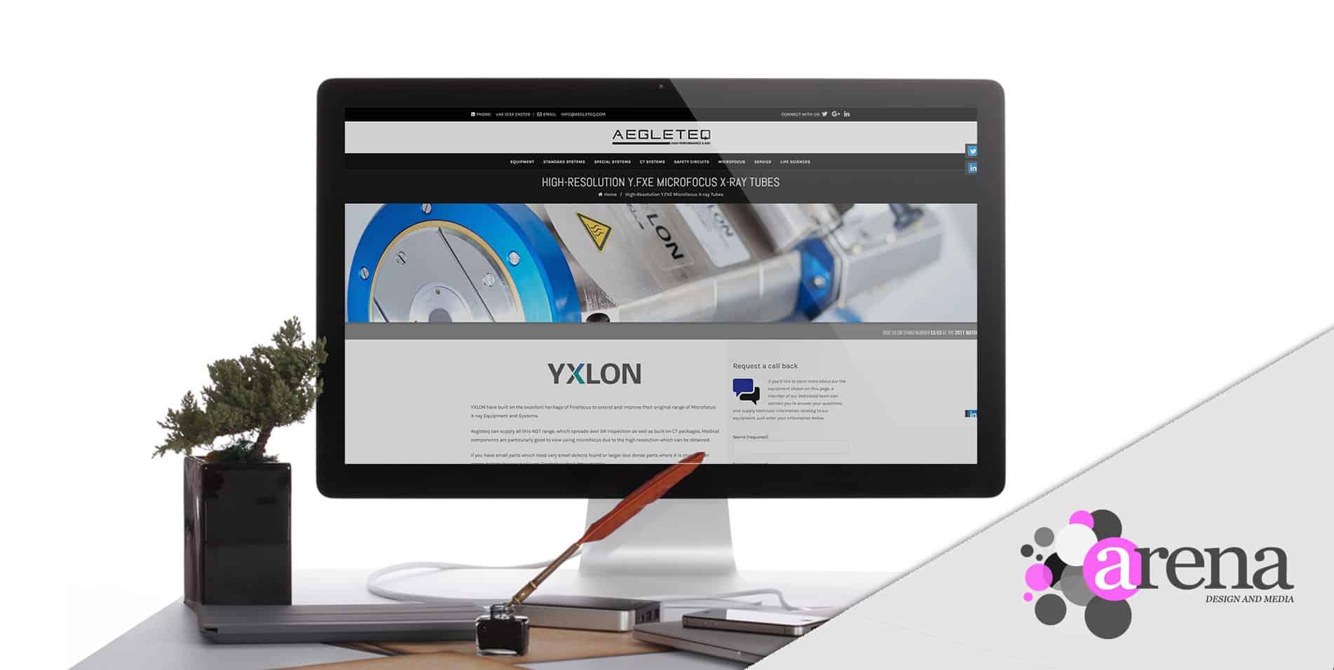 Aegleteq website design portfolio cover
